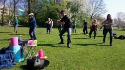 Trainen in het park Chi Kung - Tai Chi - Cosima Scheuten - Garden of Chi